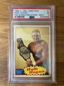 1985 OPC WWF Hulk Hogan Rookie Card #1 PSA 5 RC Wrestling Card