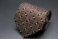STEFANO RICCI Tie. Burgundy w Black & White Whimsical Pattern. Made in Italy.
