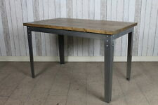 INDUSTRIAL INSPIRED RESTAURANT CAFE KITCHEN DINING TABLE IN GUNMETAL