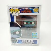 Funko POP! NIB Marvel Captain Marvel SDCC Summer 2019 MINN-ERVA #487 Pop Protect