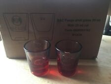 2  X BACARDI FUEGO SHOT GLASSES NEW
