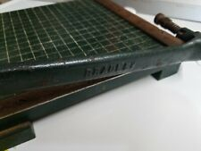 "Antique Milton Bradley Dandy 9"" Guillotine Paper Cutter Great Condition"