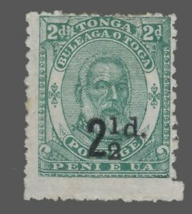 Tonga Sc. #18 21/2p on 2p Type of 1892 surcharged in Black  1893