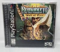 Romance of the Three Kingdoms IV: Wall of Fire (Sony PlayStation PS1, 1996) CIB