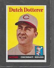 1958 Topps Baseball #396 Dutch Dotterer EX-MT *6292