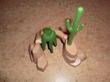 Playmobil Felsen Nascondiglio Cactus Grotta Giungla Paesaggio Safari Western ACW
