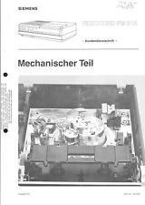 Siemens Original Service Manual für Videocord FM 314  Video 2000 Mechanik