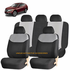 GRAY ELEGANT AIRBAG COMPATIBLE SEAT COVER SET for HONDA PILOT CIVIC