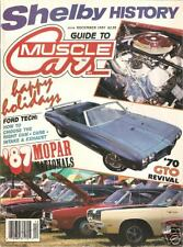 DECEMBER 1987 GUIDE TO MUSCLE CARS SHELBY HISTORY MOPAR NATIONAL 1970 GTO CONV