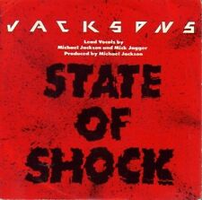 """THE JACKSONS - STATE OF SHOCK + YOUR WAYS SINGLE 7"""" VINILO 1984 SPAIN"""
