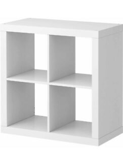 ikea kallax storage shelving bookcase display unit white 77 x 77