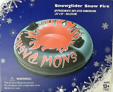 """SnowGlider SNOW FIRE Snow Tube Winter Sledding 35""""   With Handles"""