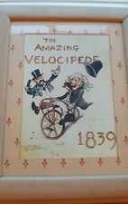 """""""The Amazing Velocipede 1839"""" Wooden Framed Picture"""