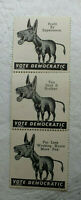 Vote Democratic Political Donkey Stamp Sheet Of 3 - MH968