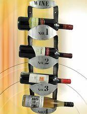 Botellero para Vino Pared Hierro Plateadot Jardín de Su Casa Terrazas Balcón