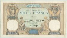BILLET 1000 FRANCS CERES ET MERCURE 1er SEPTEMBRE 1932 S 112 L 2118