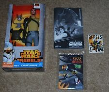 HASBRO STAR WARS REBELS HERO SERIES KANAN JARRUS & SW CELEBRATION MEMORABILIA