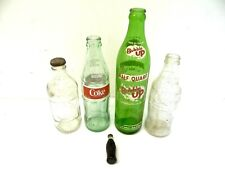 Mixed Lot of Coca Cola Coke Pepsi Bubble Up Mini-Soda Soda Bottles Used Old