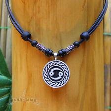 Sternzeichen Halskette KREBS Cancer verstellbar Lederkette Surferkette Horoskop