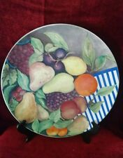 "Gien France La Ronde Des Fruits 12"" cake Plate"