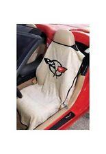 1997-2004 CHEVROLET CORVETTE C5 TAN SEAT TOWEL ARMOUR COVER FLAG LOGO NEW