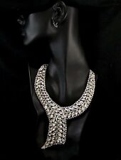 WEISS (Unsigned) Diamante Chaton, Baguettes and Marquises Cravat Necklace