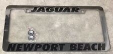 NEW Jaguar Newport Beach Stainless Steel Chrome Metal License Plate Frame +2 Cap