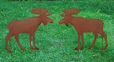"Elch ""moose"" 50 cm Edelrost Metall Rost Gartenstecker country style Landhausstil"