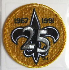 NEW ORLEANS SAINTS ~ 25th ANNIVERSARY NFL TEAM PATCH Willabee & Ward  PATCH ONLY