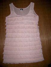 H&M Damenkleider mit Rundhals-Ausschnitt aus Polyester