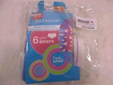 Hanes Girl's Briefs 6-Pack Premium Comfortblend Size 8