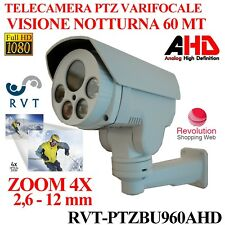 TELECAMERA SORVEGLIANZA BULLET VARIFOCALE PTZ AHD 960P BIANCA 1.3 MPX ZOOM 4X