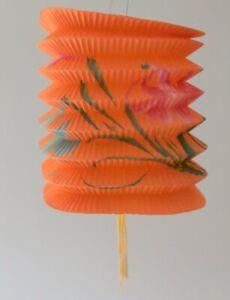 Small Vintage Orange Paper Lantern