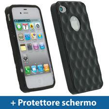 Nero Custodia TPU Gel per Apple iPhone 4 & 4S 4G 16gb 32gb Case Cover Rigida