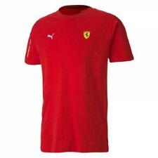 T-Shirt da Adulto Scuderia Ferrari Puma Maglia Cotone Girocollo Rossa 59614301