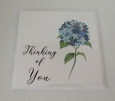 Thinking of You, Greeting Card, Hand painted hydrangea flower, Floral, Blank