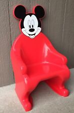 Disney MICKEY MOUSE KIDS CHAIR Red Plastic SYROCO Vintage HTF Rare