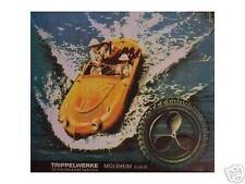 Älteres Blechschild Oldtimer Trippel Amphi_Car Afrika Werbung Reklame gebraucht