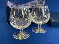 More details for vintage pair of boxes waterford lismore balloon brandy glasses with labels -