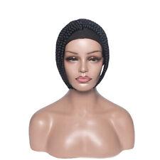 Short Black Synthetic Braided Wig Headband Wig Black Heat Safe Hair for Women
