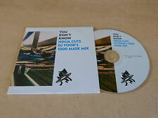 DJ Food ‎– You Don't Know Ninja Cuts DJ Food's 1000 Mask Mix  PROMO CD!!!!!!