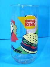 RARE! Burger King Whopper Coca-Cola Tall Glass Advertising Restaurant Logo