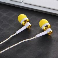 5 Farben Nylon Weave Kabel In-Ear Stereo Kopfhörer für Smartphone mit Mikro X3K9