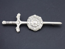 Vintage Robert Allison Sword Kilt Pin Brooch Sterling Silver 1946 925 18.2g Dr46