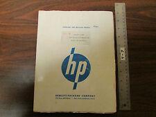 HP Agilent 618B SHF Signal Generator Op & Service Manual 1955