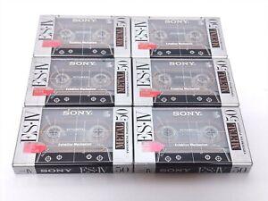 【NEW SEALED x 6-Packs】SONY Metal ES Ⅳ 50 Type IV BLANK AUDIO CASSETTE TAPE #0112