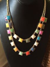 """Kate Spade Statement Style Tutti Frutti Colorful 18"""" Necklace WOW!"""