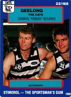 ✺New✺ 1990 GEELONG CATS AFL Card DAMIAN BOURKE Scanlens