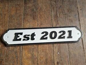 EST 2021 46CM LONG SIGN NEW HOME BAR