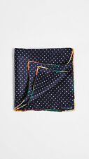 NWT Paul Smith Silk Artist-Stripe Pocket Square/Handkerchief, Made in Italy.